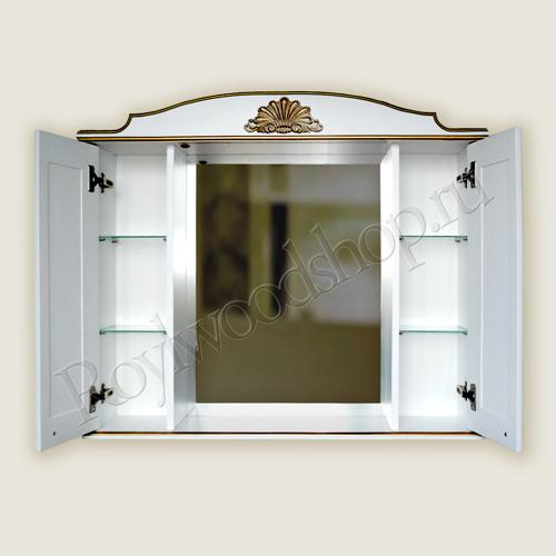 Зеркальный шкаф в ванную 100 см