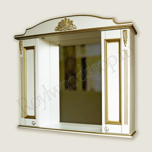Белый зеркальный шкаф 100 см