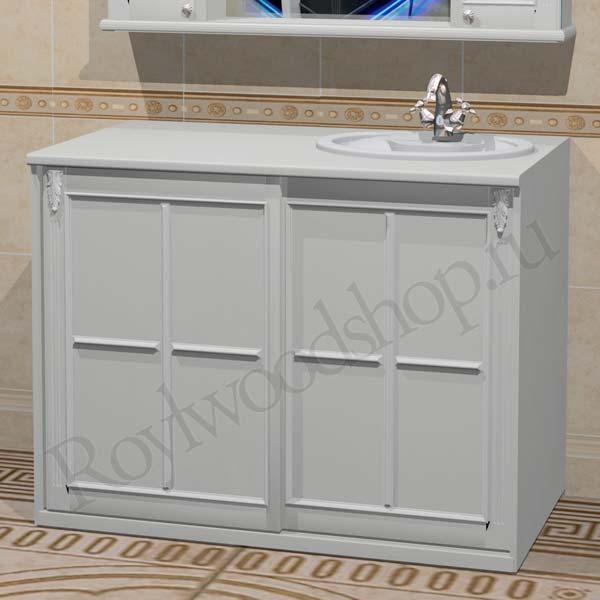 Мебель для стиральной машины белая