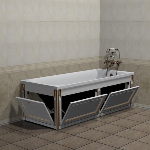 Экран под ванну откидной 150 см белый