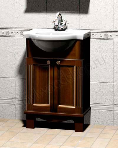 Мебель для ванной из массива в классическом стиле - тумба