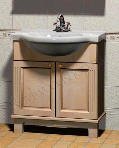 Мебель для ванной из массива - тумба с раковиной