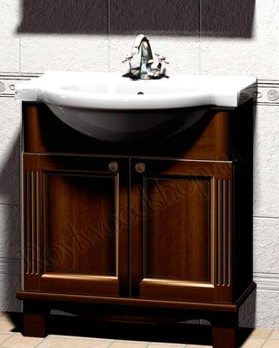Мебель для ванной из массива - тумба под раковину