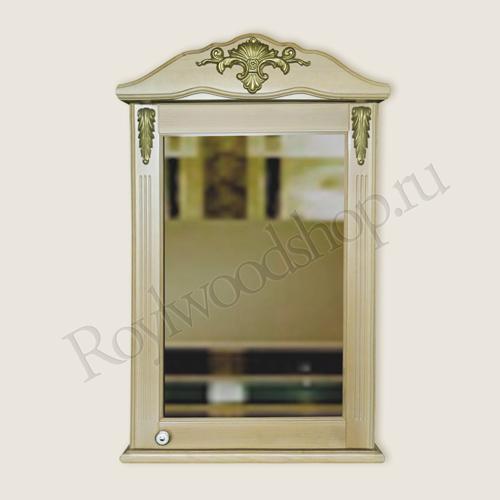 Зеркальный шкафчик из березы