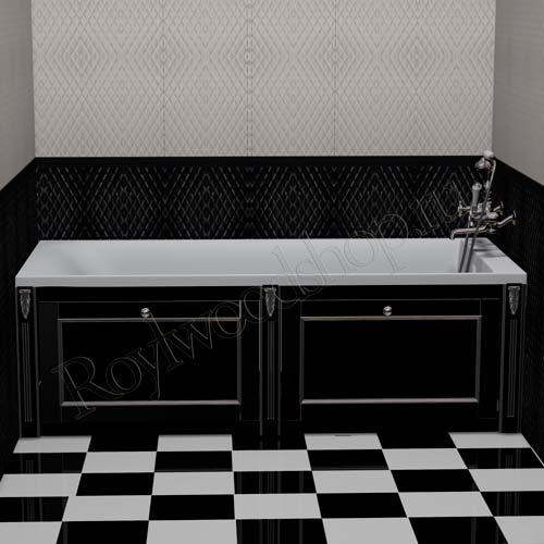 Экран для ванны черный откидной