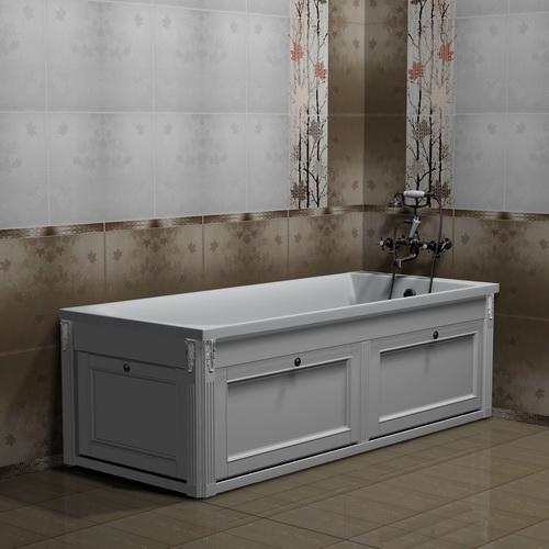 Экран для ванны откидной 150 см белый