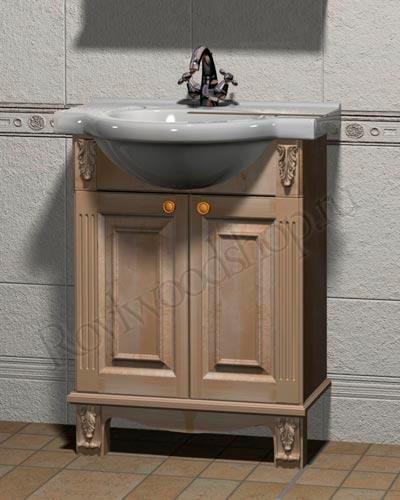 Тумба под раковину в ванную комнату из дерева