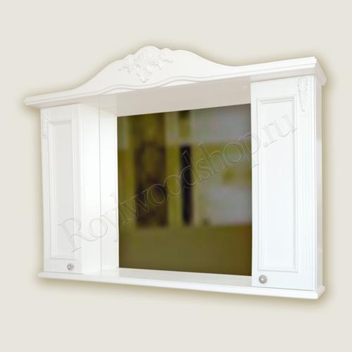 Шкаф зеркало белый