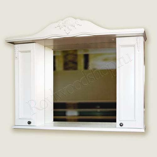 Зеркало-шкаф белое