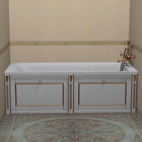 Экран под ванну откидной 150 см белый в стиле Прованс