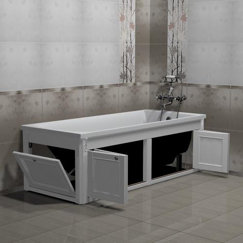 Экран для ванны белый