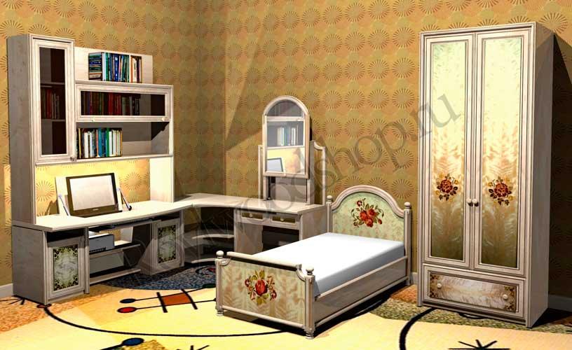 Детская комната для девочки из массива