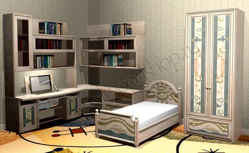 Детская комната для мальчика из массива