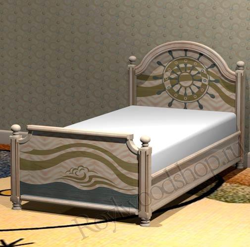 Кровать для мальчика из массива
