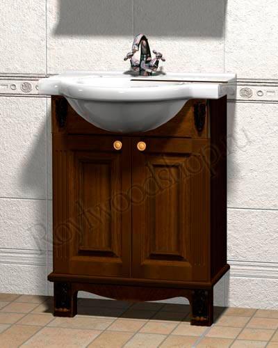 Тумба под раковину для ванной из массива березы