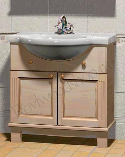 Мебель для ванной массив - мойдодыр (тумбочка с раковиной)