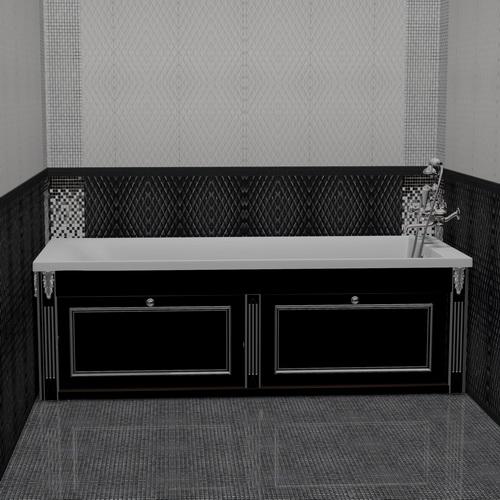 Экран для ванны откидной 150 см без торцевой дверки. Схема