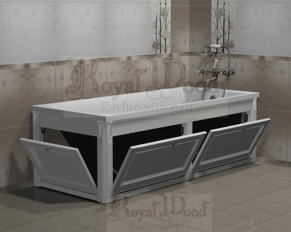 Экран для ванны с откидными дверцами купить по низким ценам в Roylwoodshop.ru