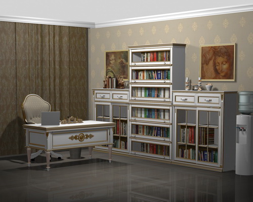 Мебель для кабинета в стиле Прованс из массива дерева