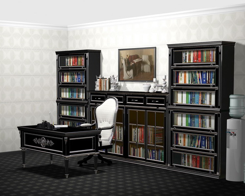 Гарнитур домашней библиотеки в стиле Прованс
