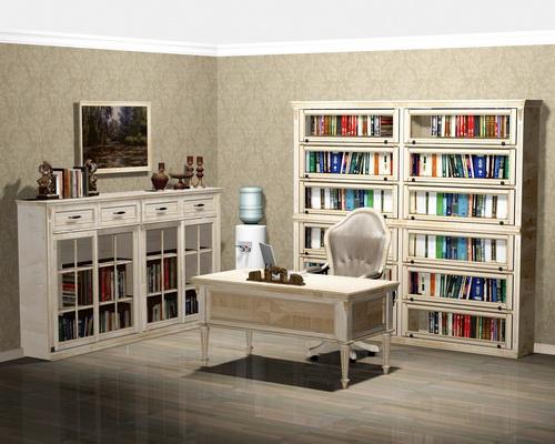 Домашняя библиотека из массива березы